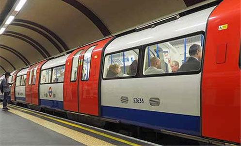 the Tube near Hotel Westbourne London