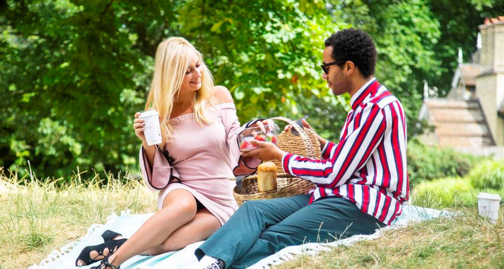 Picnic in Hyde Park next to London Westbourne Hotel